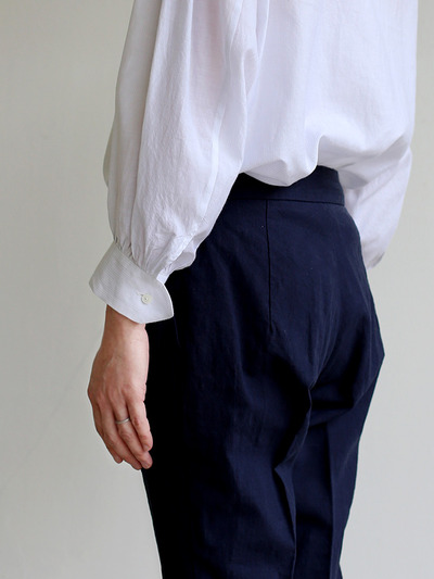 Draw string easy tapered pants~linen 1