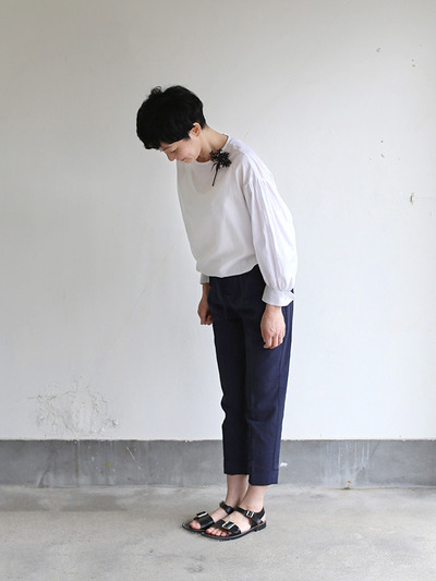 Draw string easy tapered pants~linen 2