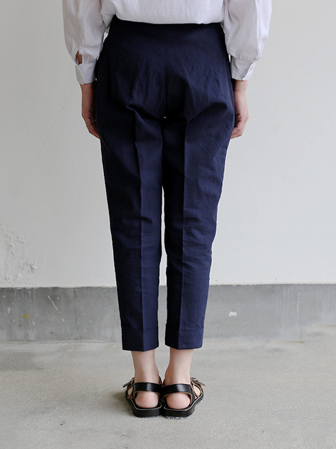 Draw string easy tapered pants~linen 4