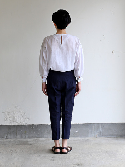Draw string easy tapered pants~linen 3