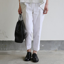 Draw string easy tapered pants~linen