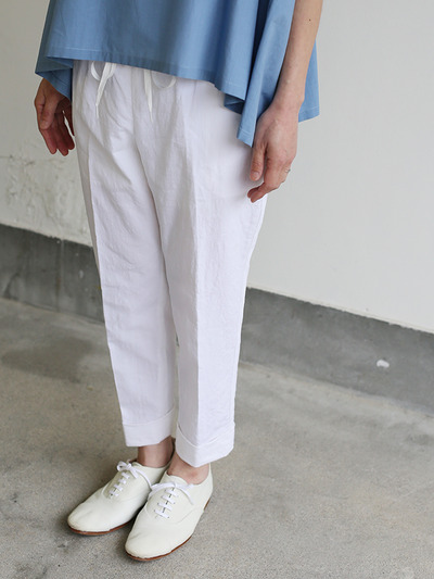 Draw string easy tapered pants~linen 5