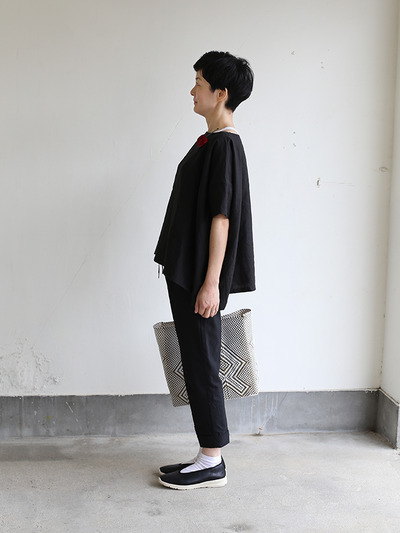 Short sleeve tent line blouse~hemp 2