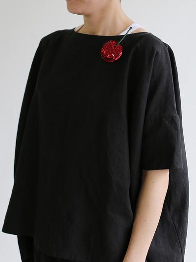 Short sleeve tent line blouse~hemp 4