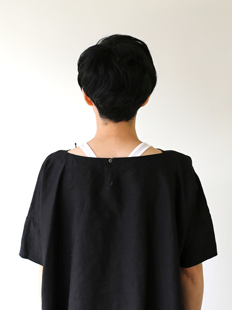 Short sleeve tent line blouse~hemp 5