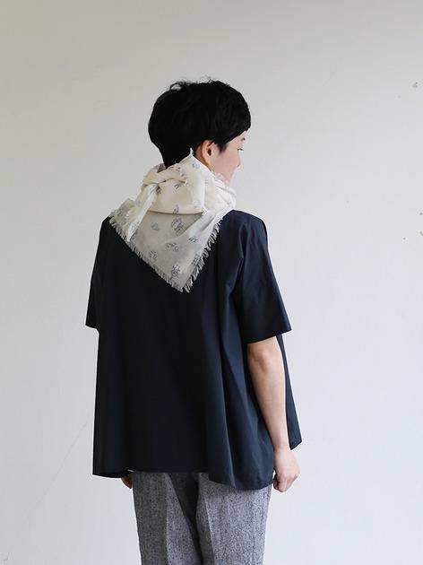 Short sleeve tent line blouse~natural dye cotton 4