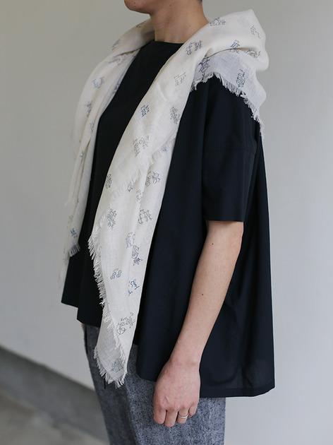 Short sleeve tent line blouse~natural dye cotton 5