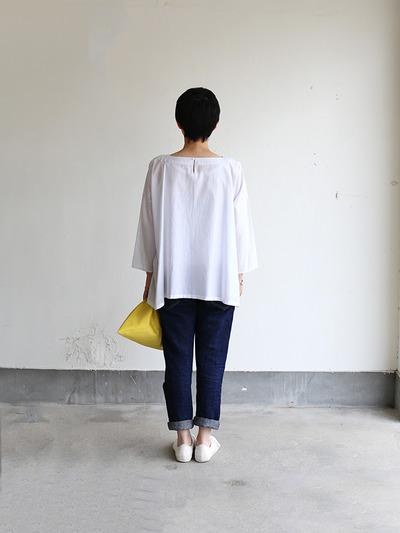 Tent line blouse~silk cotton 4