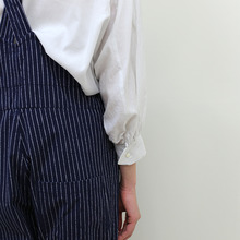 YAECA / Round cuff blouse~silk cotton
