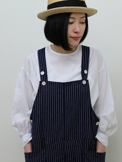 YAECA / Round cuff blouse~silk cotton 3