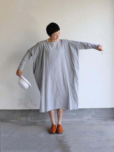 Boat neck long dress~cotton 3