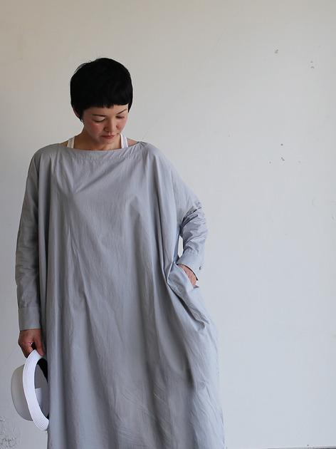 Boat neck long dress~cotton 4
