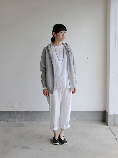 Boat neck big shirt~tape stripe cotton 2