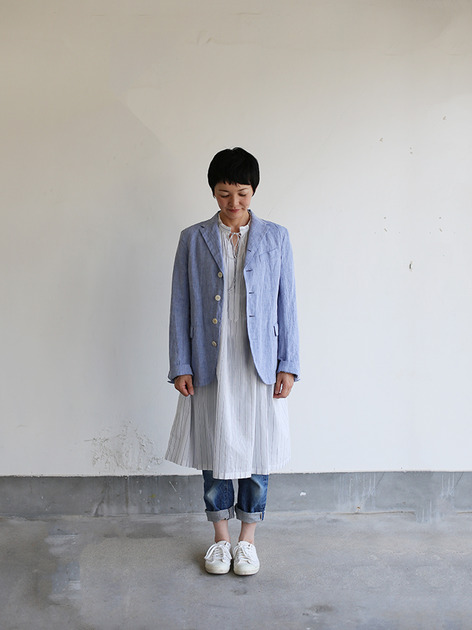 Old tailored jacket Ⅱ~cotton linen dungaree 2