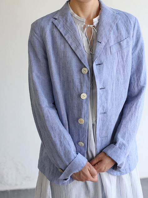 Old tailored jacket Ⅱ~cotton linen dungaree 3