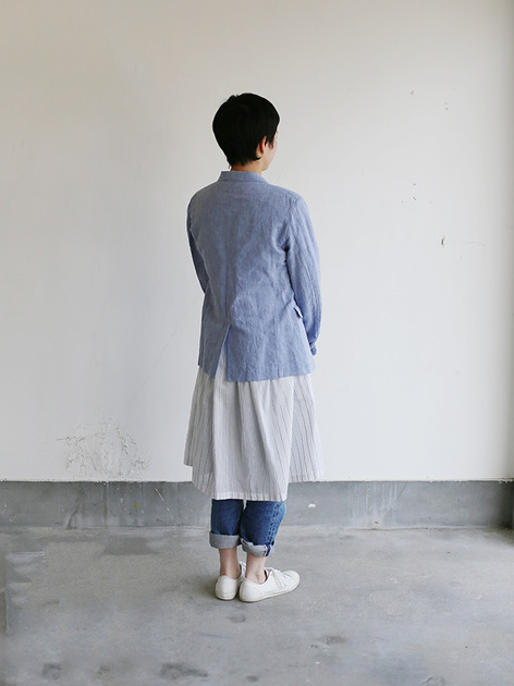 Old tailored jacket Ⅱ~cotton linen dungaree 4