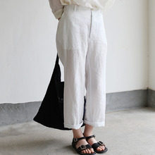 Back gum pajamas pants~linen