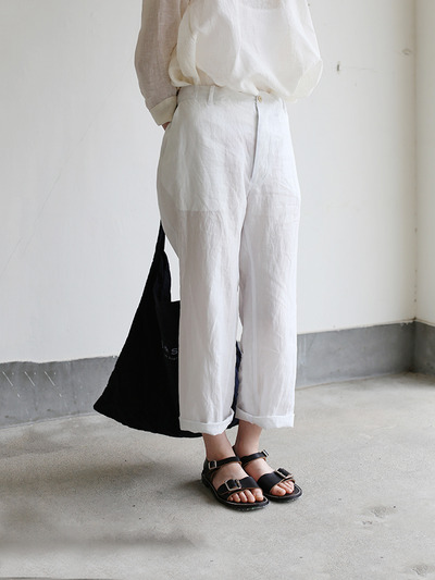 Back gum pajamas pants~linen 1