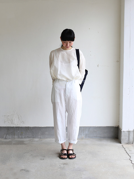Back gum pajamas pants~linen 2