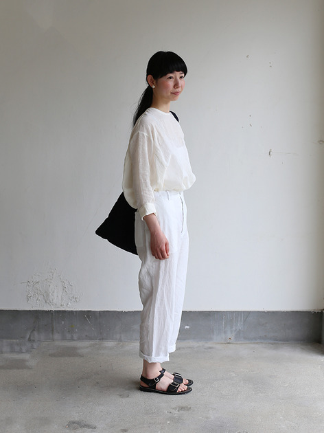 Back gum pajamas pants~linen 3