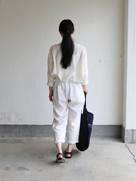Back gum pajamas pants~linen 4
