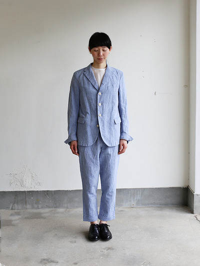 Men's easy tapered pants~cotton linen dungaree 2