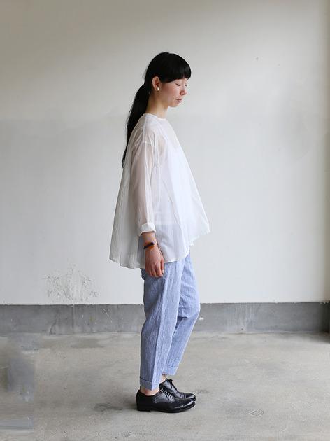 Side gather tent line blouse~cotton 3