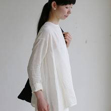 Side gather tent line blouse~linen