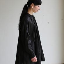 String gather blouse~ramie