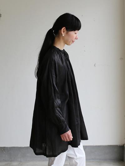 String gather blouse~ramie  1