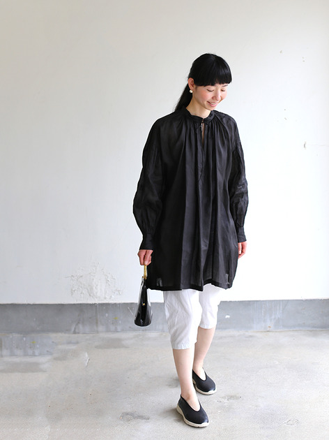 String gather blouse~ramie  2