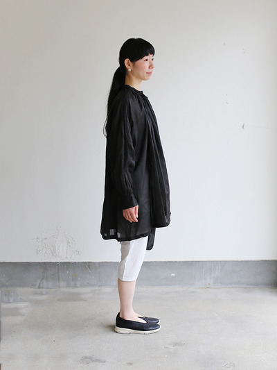 String gather blouse~ramie  3