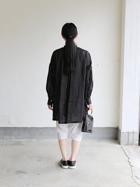 String gather blouse~ramie  5