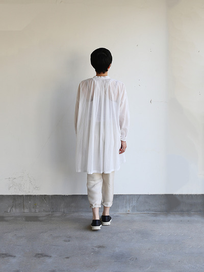 String gather blouse~cotton 1