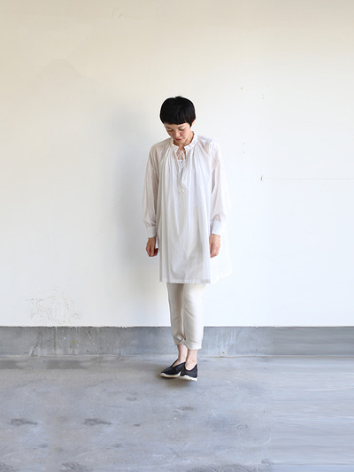 String gather blouse~cotton 2