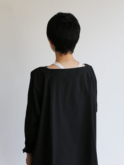 Boat neck big shirt~cotton 1