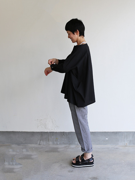 Boat neck big shirt~cotton 3