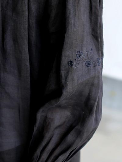 String gather blouse~ramie  4