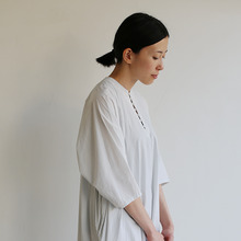 Big sleeve dress~cotton