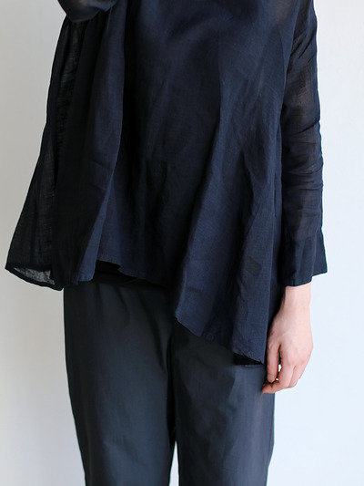 Side gather tent line blouse~ai-susu linen 5