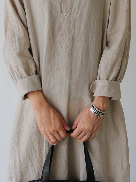 Raglan tunic dress~linen 4
