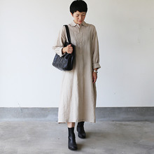 Raglan tunic dress~linen
