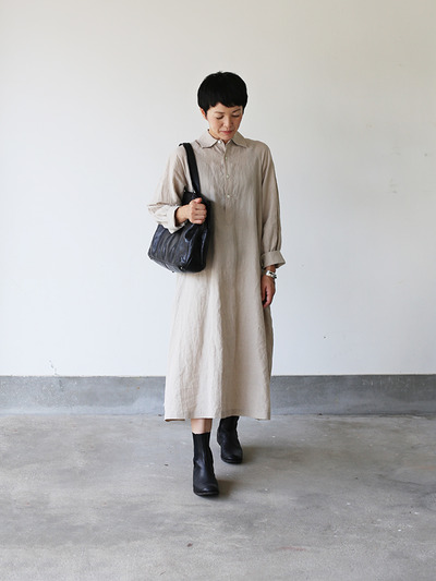 Raglan tunic dress~linen 1