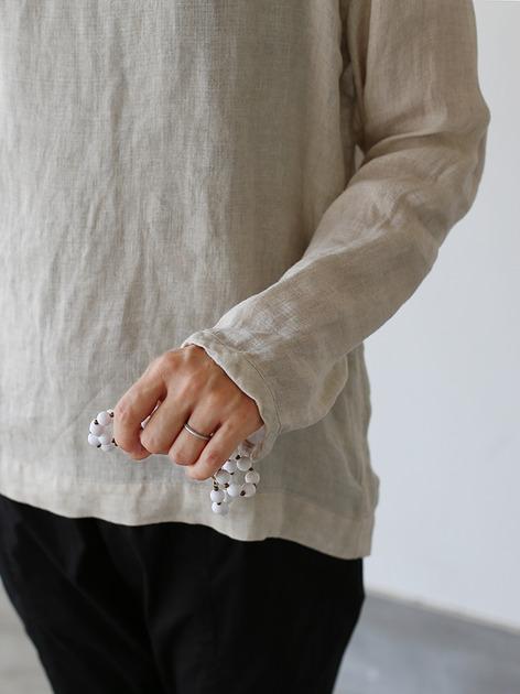 Long sleeve big T-shirt~linen 5