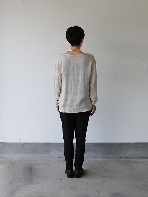 Long sleeve big T-shirt~linen 3