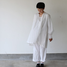 String gather blouse~cotton