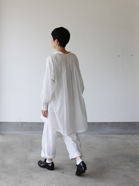 String gather blouse~cotton 3