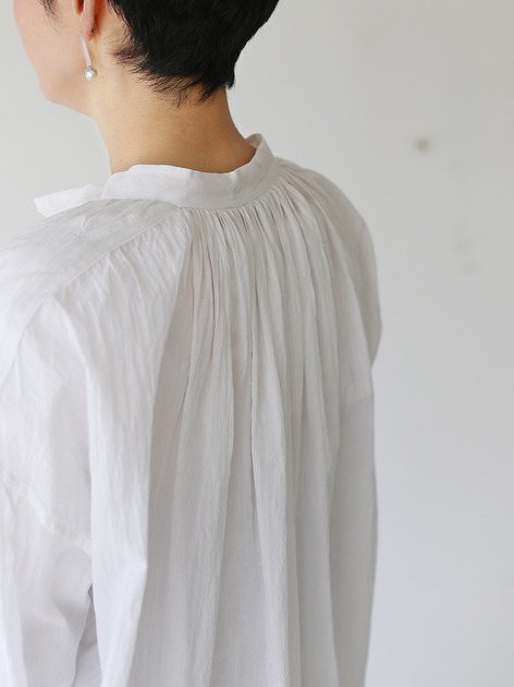 String gather blouse~cotton 5