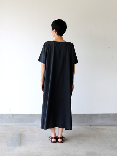 Tent line dress very long~natural dye cotton 4