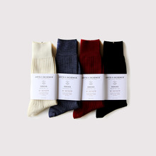 Plain rib socks